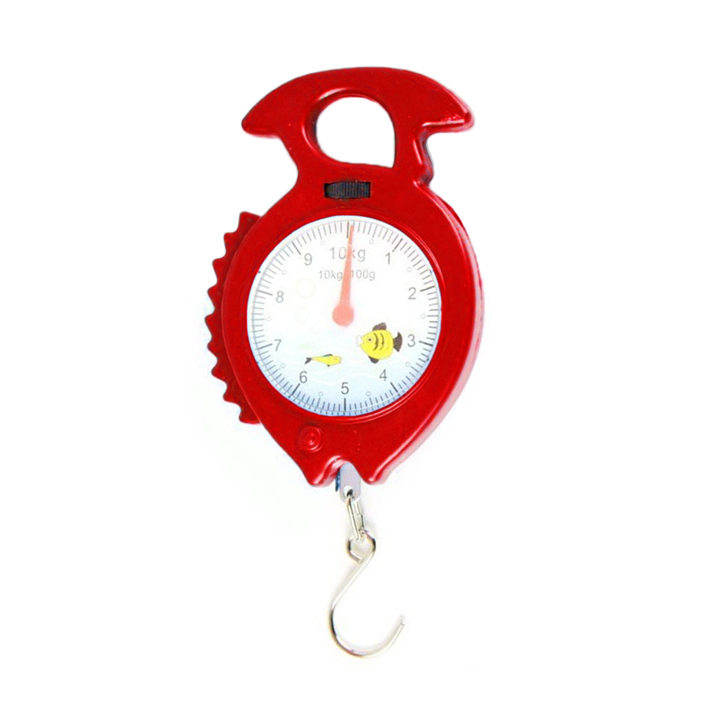 New Arrival 10kg Fish Shape Weighing Hanging Scale Household Luggage Handheld Numeral Pointer Spring Balance Random Color