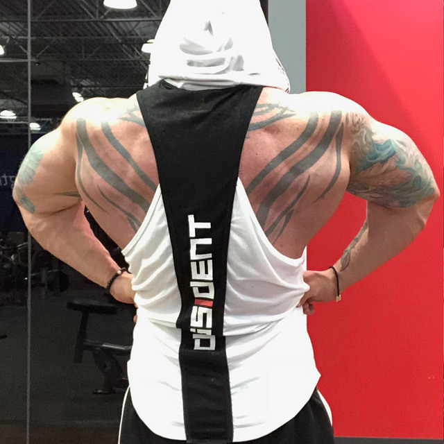 Fitness Clothing Men Sleeveless Vests Cotton