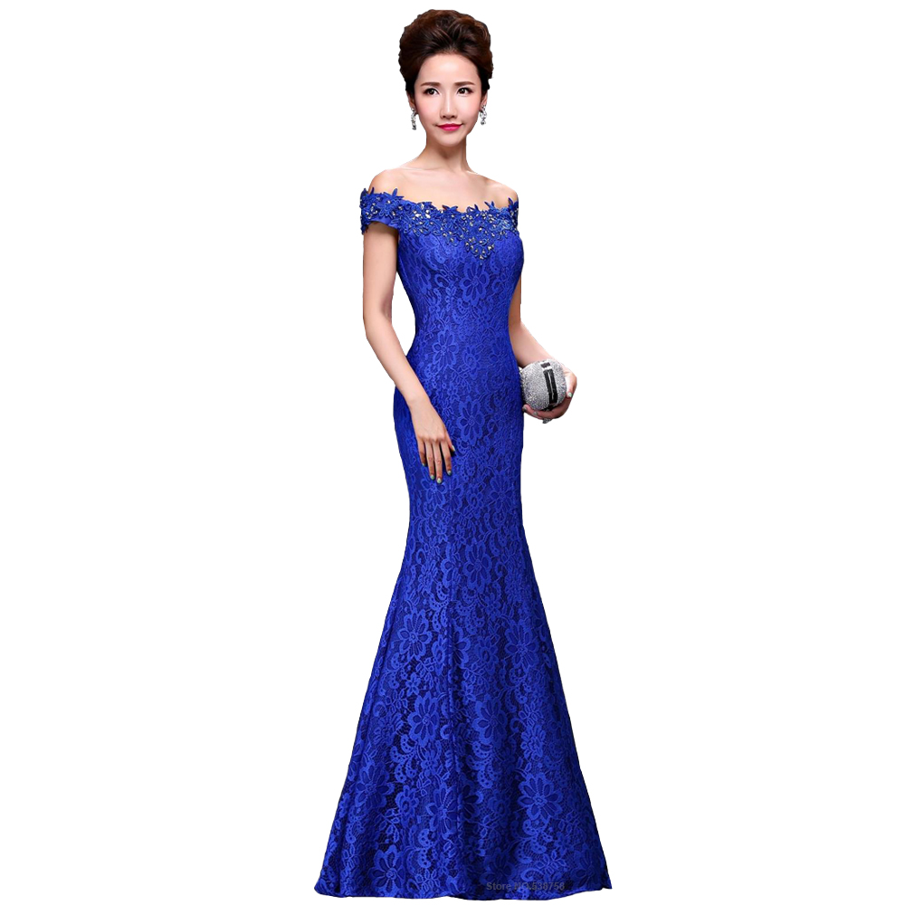 Long Mermaid Evening Dress Sweetheart Beaded Robe Femme