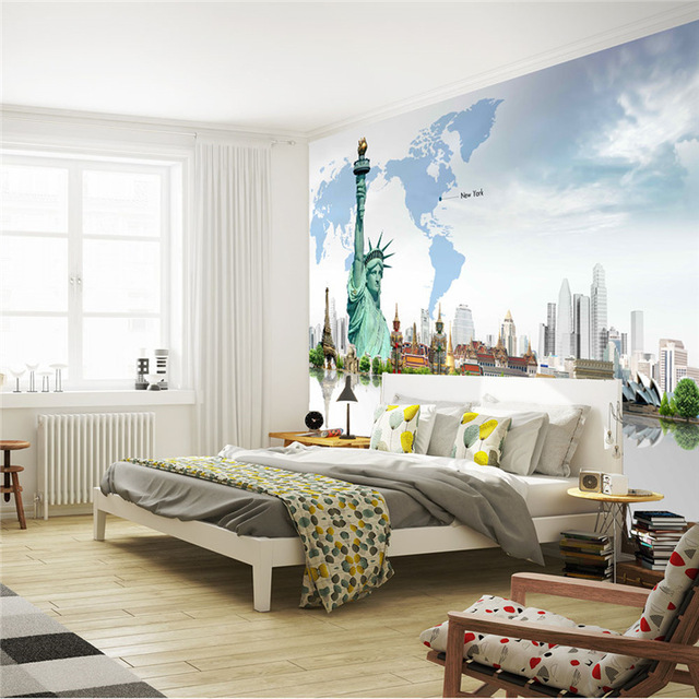 Custom 3D Wall Mural Fashion Photo Wallpaper Statue Of Liberty Wallpaper  Room Decor Wall Art Bedroom