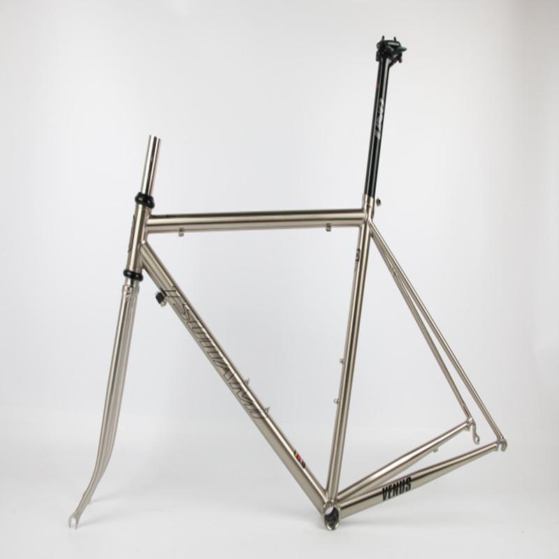 Discount TSUNAMI 520 chrome-molybdenum steel Bicycle Frame Road Bike Frame + full carbon front Fork or steel Fork 1