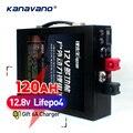 12 V 120AH LiFePo4 batería de gran capacidad de batería de fosfato de hierro de litio con carcasa de metal de iluminación LED encendedor de cigarrillo