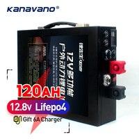 12 V 120AH LiFePo4 аккумулятор большой емкости литий железо фосфат аккумулятор с металлическим корпусом светодиодный прикуриватель