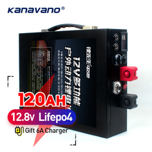 12 V 120AH LiFePo4 аккумулятор большой емкости литий-железо фосфат аккумулятор с металлическим корпусом светодиодный прикуриватель