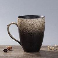 HIBOUR 350mL Western Design Ceramic Coffee Mugs Cup Hand Painted Coffee Blue Sea Travel Mug Milk