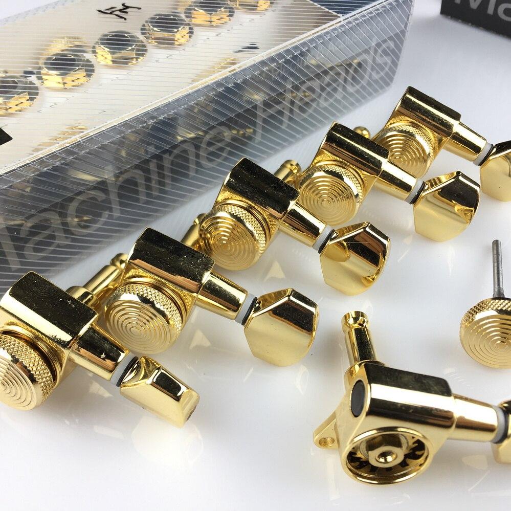 Nouveaux accordeurs de verrouillage de guitare en or têtes de Machine de guitare électrique accordeurs chevilles de réglage de verrouillage de JN-07SP (avec emballage) - 2