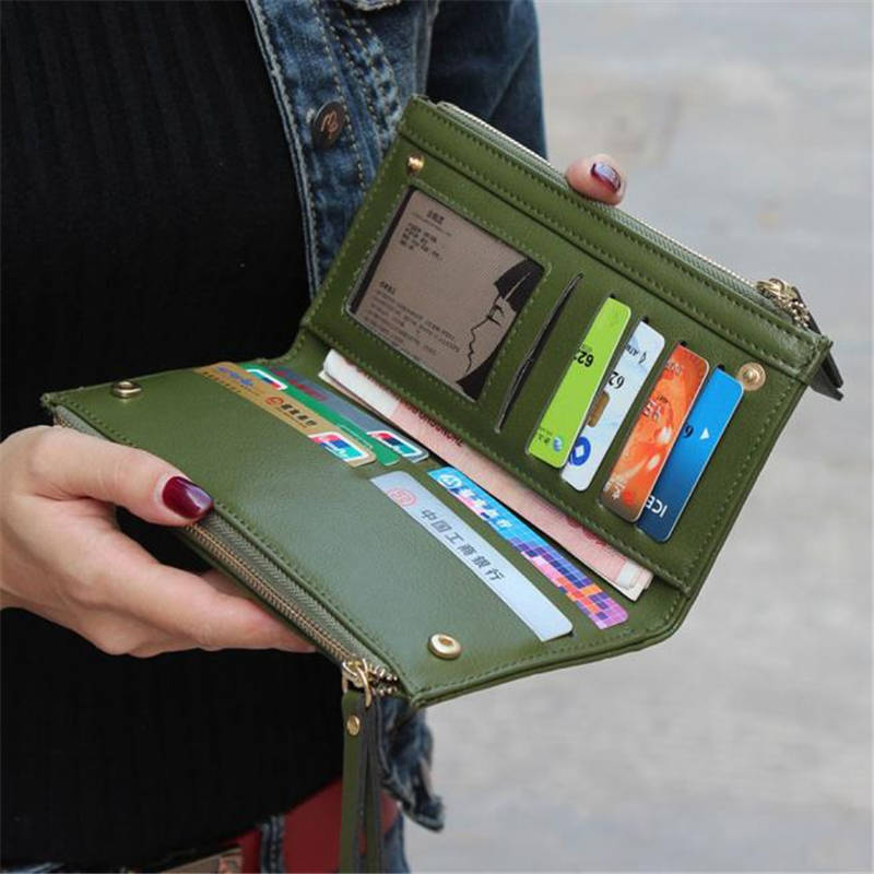 bolsa xadrez zipper carteira carteira Capacidade : Designed TO Hold Cash, Cards And Other Little Things.