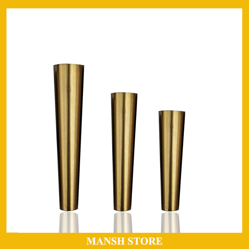 4pcs/lot Gold Stainless Steel Cups Cabinet Legs Covers Chairs Leg Protector Table Feet Tube Furniture Accessory Free Shipping