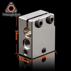 Image 4 - Trianglelab PT100 Volcano Überzogene Kupfer Wärme Block Für E3d Volcano Hotend 3D Drucker Heate Block Für BMG Extruder Titan