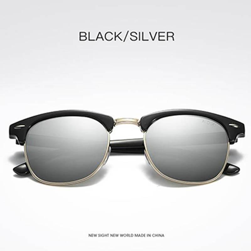 2e8d83c9f573 Men/Women Polarized Sunglasses Semi-Rimless Retro Sun Glasses Polarized Brand  Designer Vintage Oculos De Sol Classic UV400. Product Description