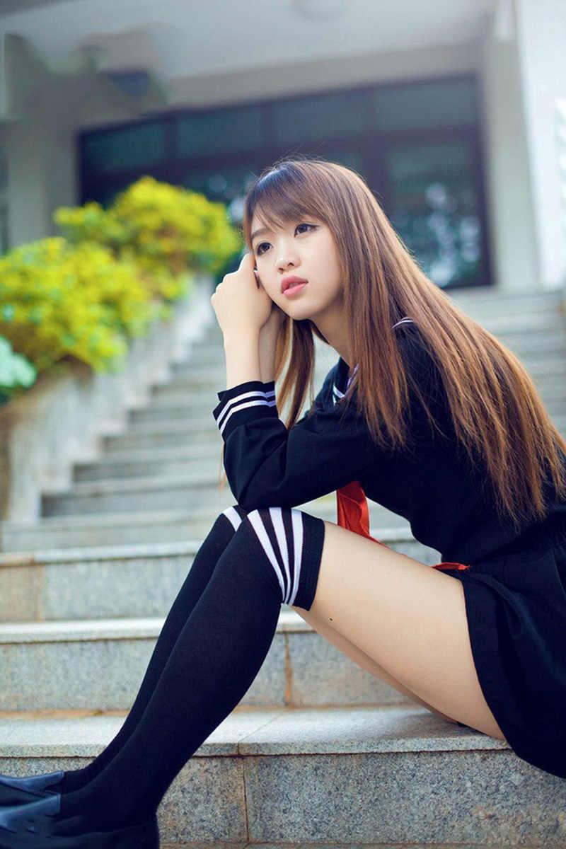 Teen Girls Jk Japanese School Student Uniform Sailor Dress -9216