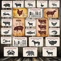 [Mike86] режет мясника, руководство для мясника, искусственное мясо, коллекция, жестяной знак, Декор, искусственное металлическое ремесло