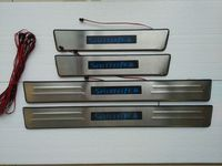 With Blue LED light High quality stainless steel Scuff Plate/Door Sill for 2013 Hyundai Santa Fe ix45 Car styling