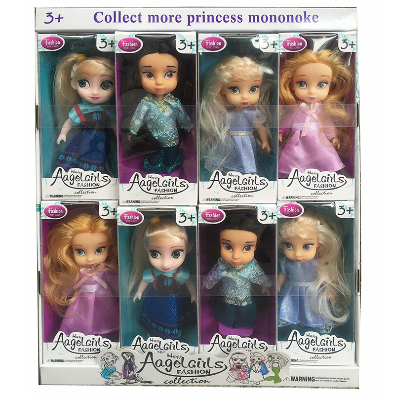 1Pcs 15Cm Anime Cartoon Movies Anna Elsa Princess Doll Set Girl Toy Christmas Gift for Childrens