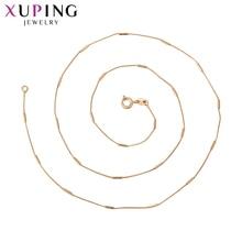 Xuping Новое поступление ювелирных изделий золотого цвета Плиссированное ожерелье для женщин модный стиль красивые рождественские подарки S105.9-44765