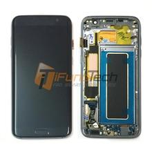 Livraison Gratuite 100% D'origine écran lcd pour Samsung Galaxy S7 edge LCD avec cadre G935F G935FD LCD écran tactile Digitizer