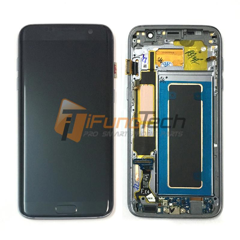 Prix pour Livraison Gratuite 100% D'origine écran lcd pour Samsung Galaxy S7 edge LCD avec cadre G935F G935FD LCD écran tactile Digitizer