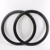 2Pcs New Arrival 700C 50mm Road Bicycle 3K Full Carbon Fibre Bike Wheelset Clincher Rims With