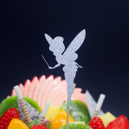 Lovely Angel Happy Birthday Cake Flag Topper Multi Color For Wedding - Materiały świąteczne - Zdjęcie 6