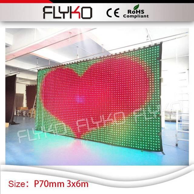 Bar disco lumières rideau p7cm led lumière rideau toile de fond 10ft ...