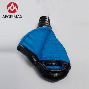 Image 4 - Уличный спальный мешок AEGISMAX G2 с белым гусиным пухом, ультралегкий спальный мешок для кемпинга в холодную зиму, с перегородкой, FP800