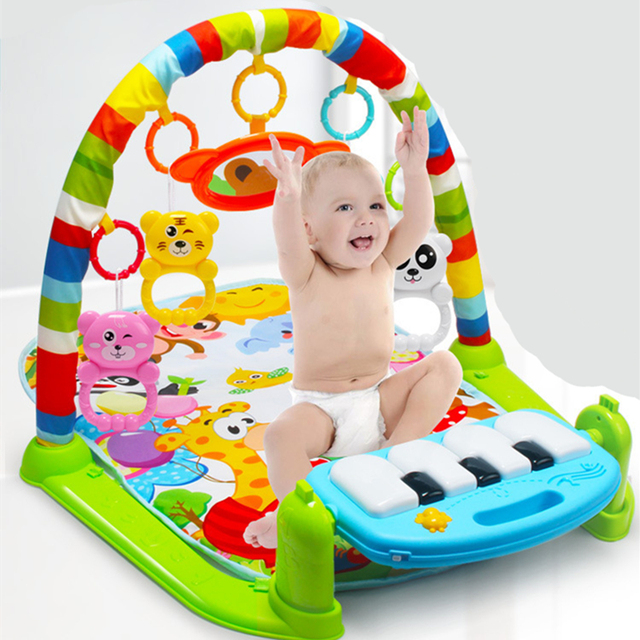 3 in 1 Tummy Time Mat Kid Crawling Music Play Game Developing Mat with Piano Keyboard Play Mat