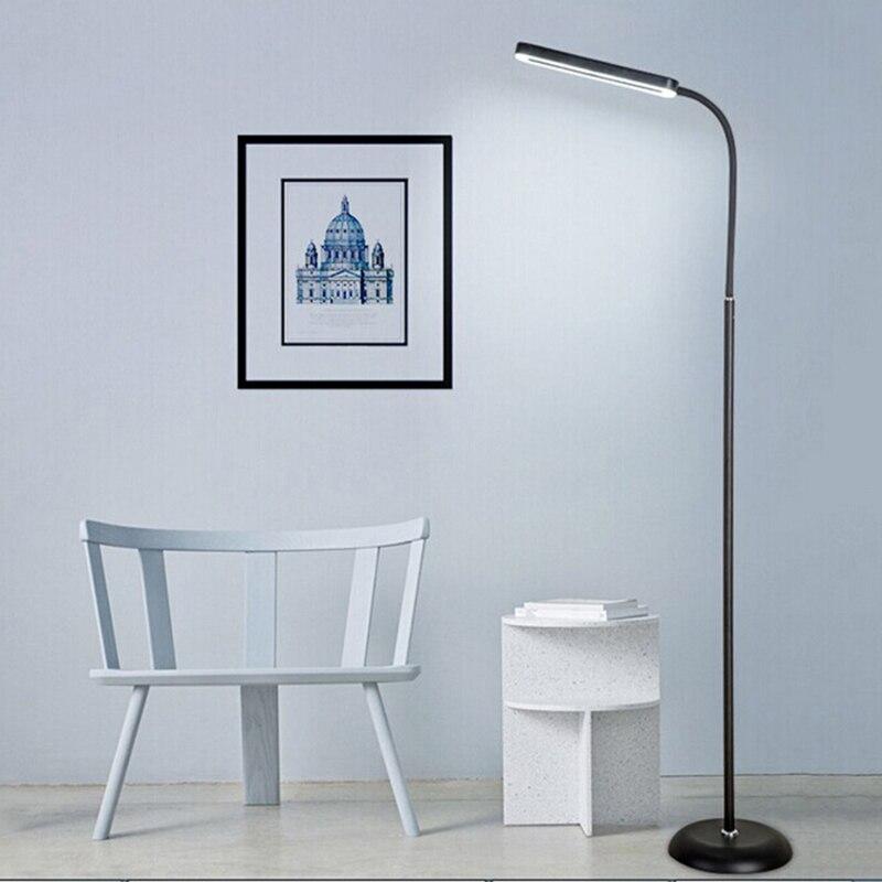 5PCS Black Modern Simple 8W LED Floor Standing Lamp Bedside Floor Lamp Standing Floor Light Reading Lamp modern 8w 720lm 5000k 8 led up