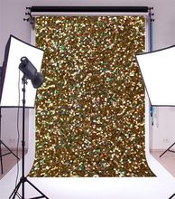 Natal do Ouro Glitter sparkly lantejoulas textura abstrata parede Fundos backdrops Vinil pano de Alta qualidade de impressão Computador