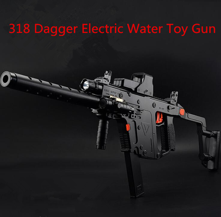 ФОТО 318 Dagger Electric Water Toy Gun Plastic Interactive Toy Guns Cool Lighting Infrared Submachine Children Gifts hot sale