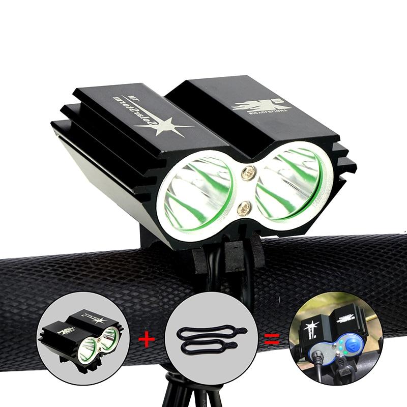 5000 Lumen 2x XML U2 LED SolarStorm Cycling Bicycle Bike Front Light Lamp HeadLight Headlamp