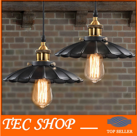 ZYY 1pcs Vintage American Industrial Light LOFT Retro Nostalgia Lamp Cafe-bar Restaurant LED Lamps Black Umbrella Pendant Lights vintage pendant lights industrial loft american retro lamps creative restaurant dining room lamp bar counter incandescent bulb