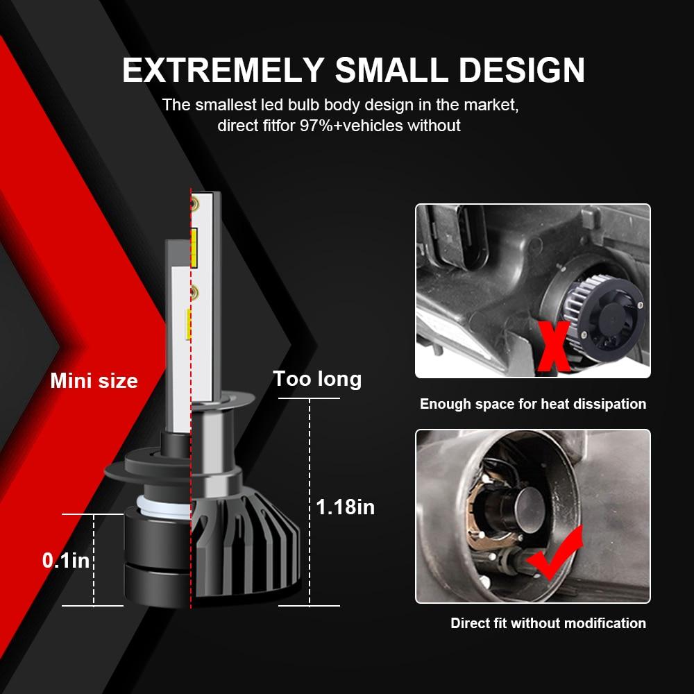LVTUOSI H4 H1 LED Headlight Mobil H7 H3 H11 LED 9005 9003 9004 H8 H9 - Lampu mobil - Foto 6