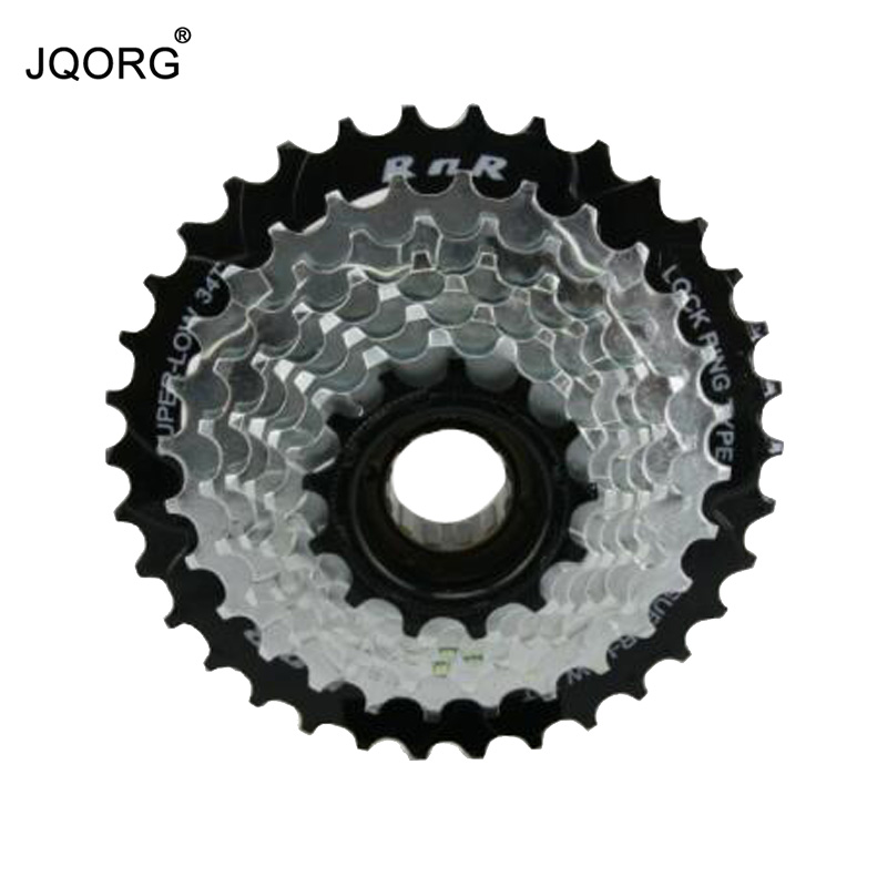 JQORG Bicycle Freewheel 13T/15T/17T/19T/21T/24T/28T/34T 8 Speed Mountain Bike Freewheel 24 Speed Screw Thread MTB Freewheel
