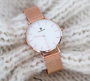 Image 5 - Starking Vrouwen Horloges Rose Gold Roestvrij Stalen Armband Quartz Vrouwelijke Minimalistische Horloge 2017 Fashion Casual Dames Jurk Horloge