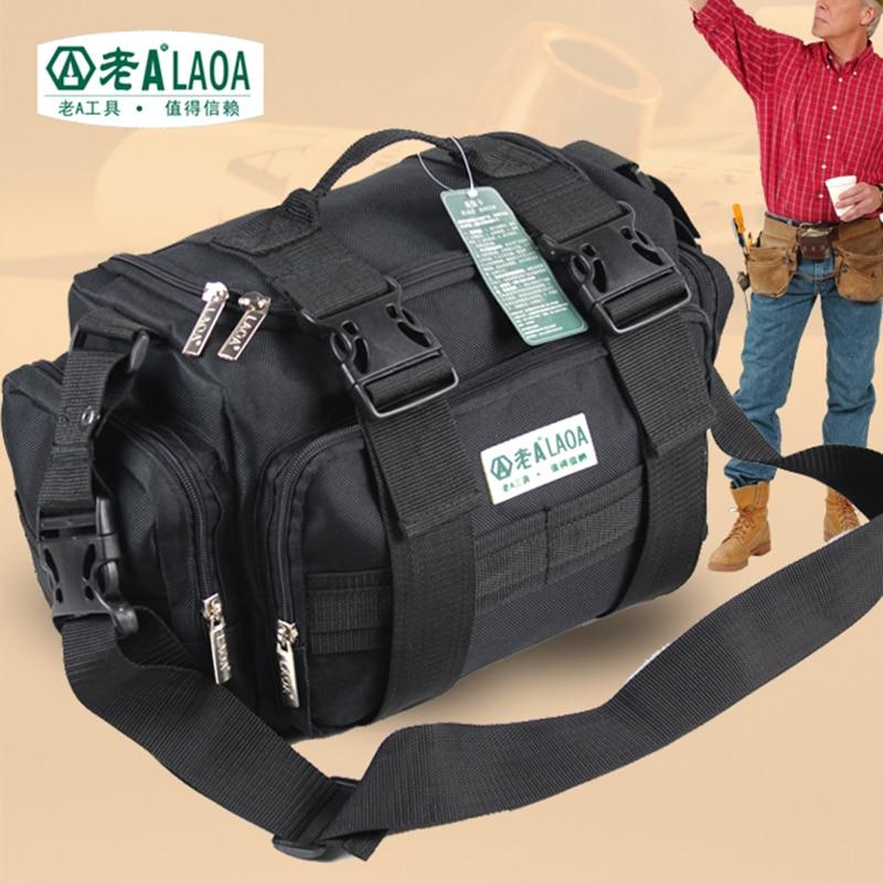 LAOA  Multifunction Tool Bag Large Capacity Professional Repair Tools Bag Messenger Bag