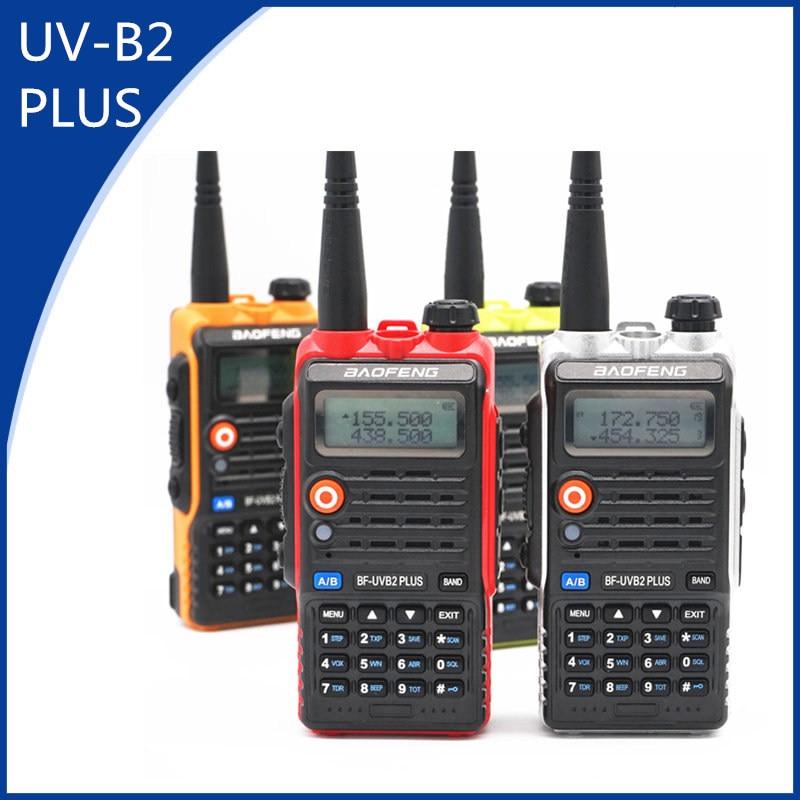 BaoFeng UV-B2 Plus 8W High Power FM Transceiver 4800mah Battery BF-UVB2 Plus for CB Radio Mobile Radio UVB2 Walkie TalkieBaoFeng UV-B2 Plus 8W High Power FM Transceiver 4800mah Battery BF-UVB2 Plus for CB Radio Mobile Radio UVB2 Walkie Talkie