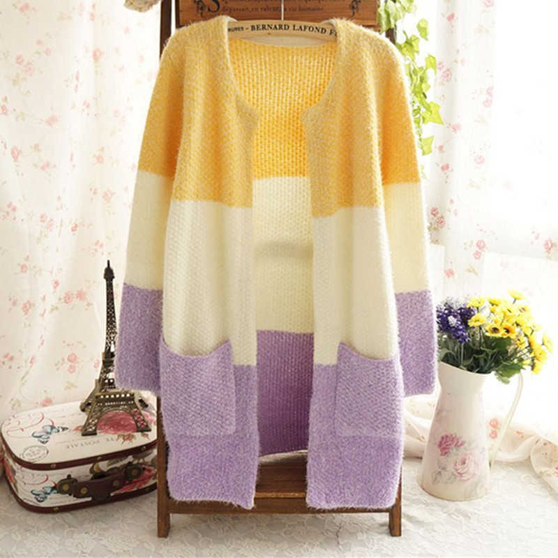 Hot Women Sweaters 2016 Autumn Winter Casual Cardigan Fashion Knitted Solid Slim Lovely Sweaters Elegant Candy Colors Cardigans 1