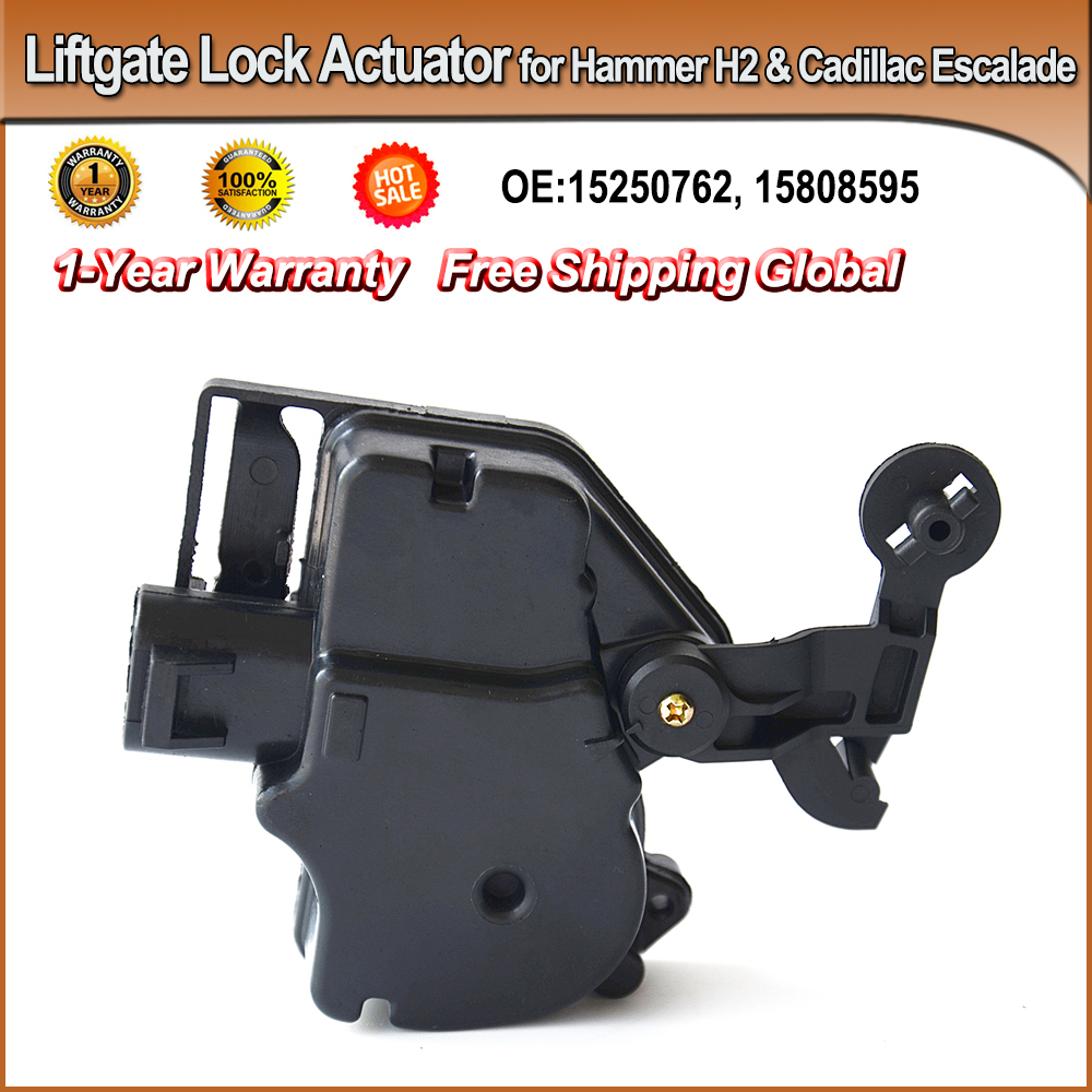 -FAST SHIPPING- Rear Tailgate Liftgate Lock Actuator for Cadillac Escalade & Hammer H2 OEM#15250765, 15808595, 746015, DLA1052