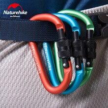Naturehike 10 шт. 60 мм D-форма, алюминиевый сплав на открытом воздухе Пеший Туризм Кемпинг карабины пряжки с замком и ключом