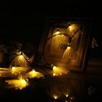 VCT SLC 039 Outdoor String Lights 20 LEDs Solar String Light Four Leaf Flower Decoration For