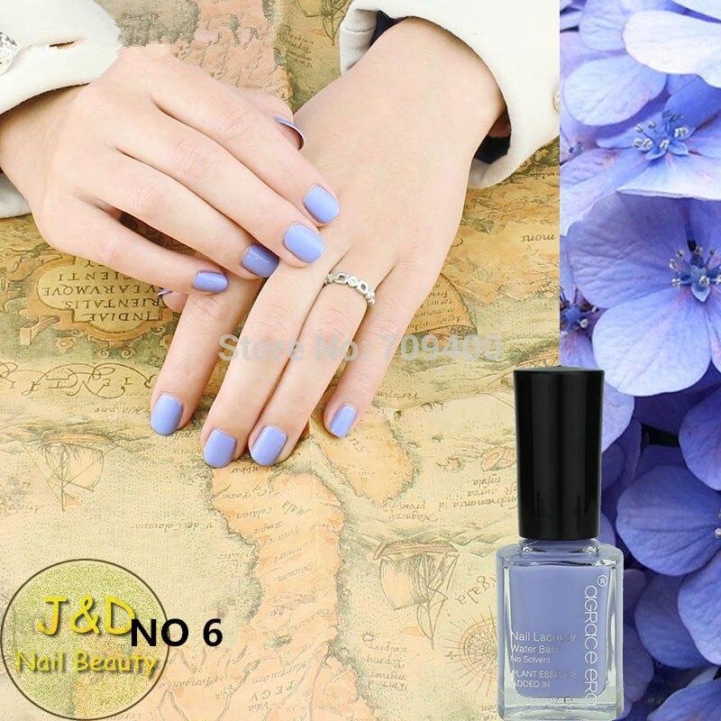 FOREVERJASMINE 10PCS Glitter Blue Nail Polish Navy Nail Varnish 12ml ...
