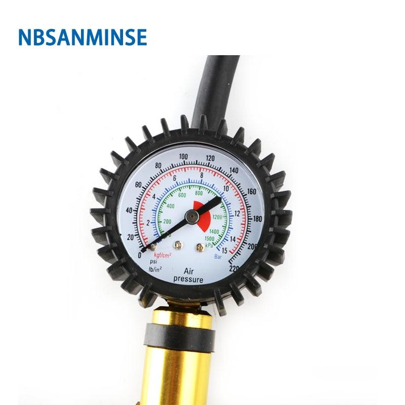 NBSANMINSE SMATI05 Tyre Inflating Inflator Gun Air Pressure Gauge For Light Truck Bicycle Tires Pneumatic Pump Air Compressor in Pneumatic Parts from Home Improvement