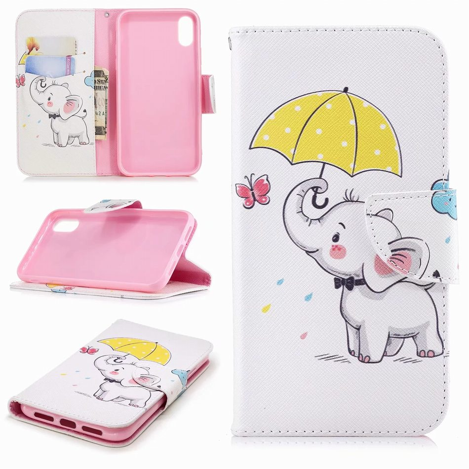 Unicorn Capa Leather Holster For Frame Apple iphone 6 6S 7 8 Plus XR X XS Max Panda Case Flip Fundas Book Cover Phone Bags DP07Z