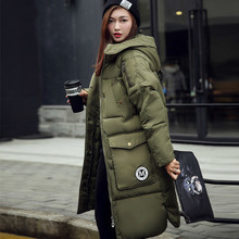 sell at a loss bomber jacket 100% coat cotton 2016 Europen Style Woman Overknee Long Fund Clothes Loose Coat parka female