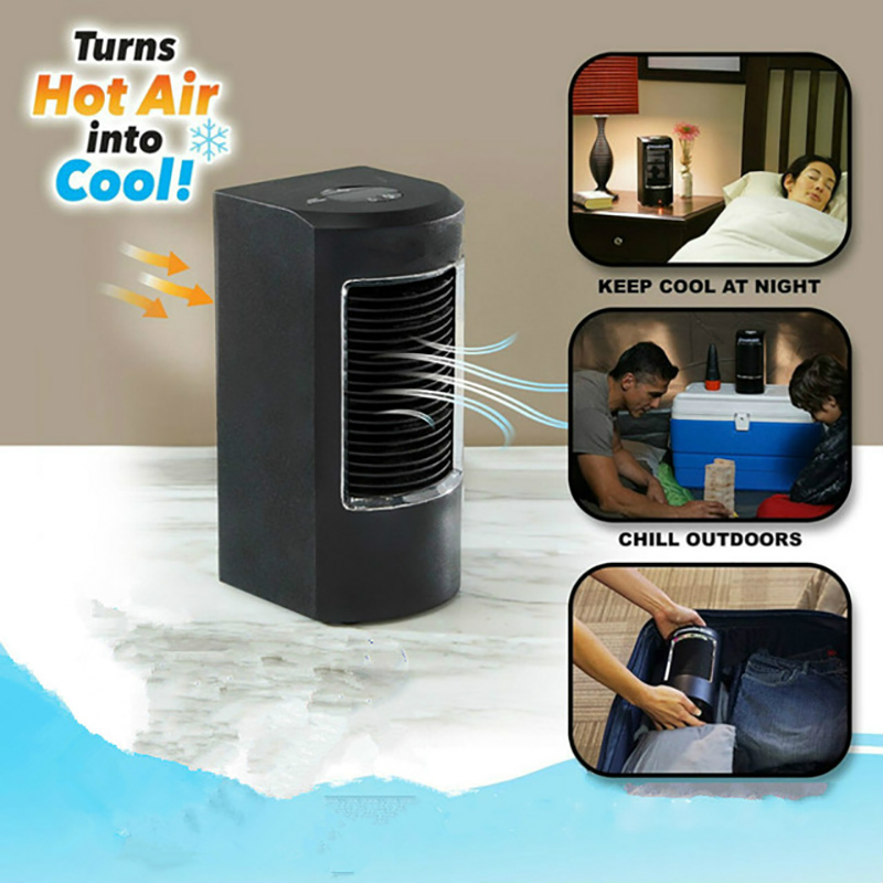 Refroidisseur d'air évaporatif pratique ventilateur refroidisseur d'espace personnel Portable Mini climatiseur dispositif vent apaisant frais pour le bureau à domicile
