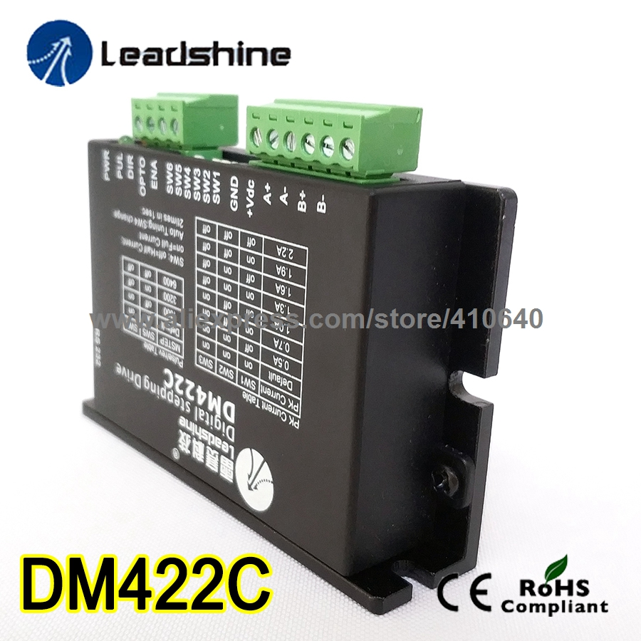 Free Shipping 3 pieces per lot Leadshine DM422C - 2 Phase Digital Stepper Drive; Max 40 VDC and 2.2A free shipping leadshine ma860h 3 pieces per lot 2 phase stepper drive with 50 110 vdc or 36 80 vac voltage and 2 4 7 2a current