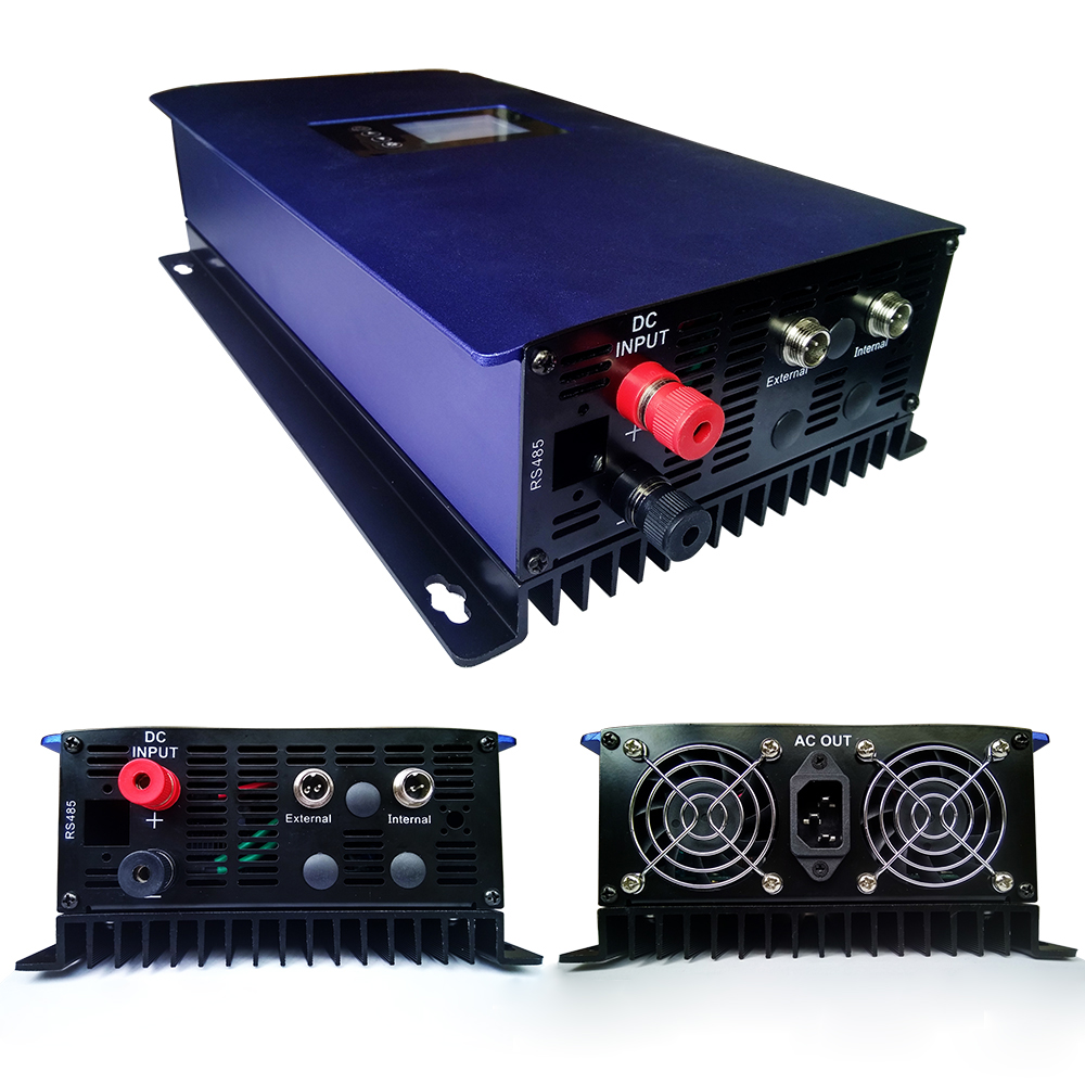 1000W MPPT Solar Grid Tie Inverter With Internal Limiter DC 45-90V AC 110V 120V For PV Connected Pine Sine Wave Inverter new grid tie mppt solar power inverter 1000w 1000gtil2 lcd converter dc input to ac output dc 22 45v or 45 90v