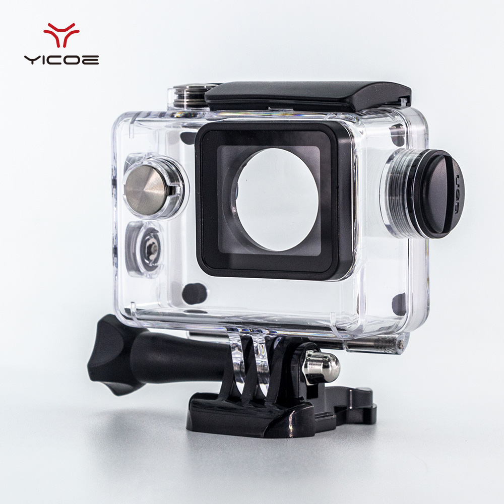 الغوص للماء حالة شاحن شل مع كابل USB ل SJ4000 واي فاي دراجة نارية Sj7000 EKEN H9 4K الملحقات كاميرا العمل