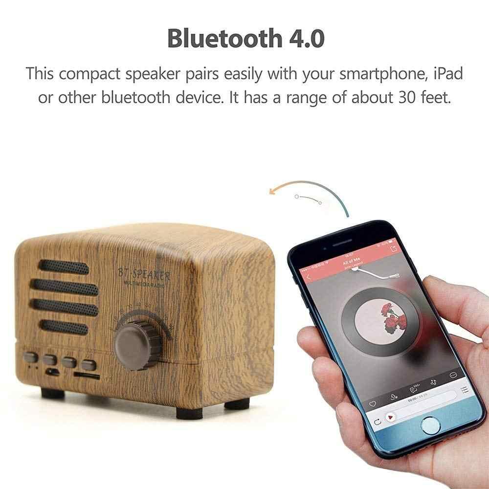 Portable Bluetooth Stereo Speaker Enhanced Bass Retro Vintage Speaker with TF Card Slot For Travel Wireless bt Blutooth Speaker
