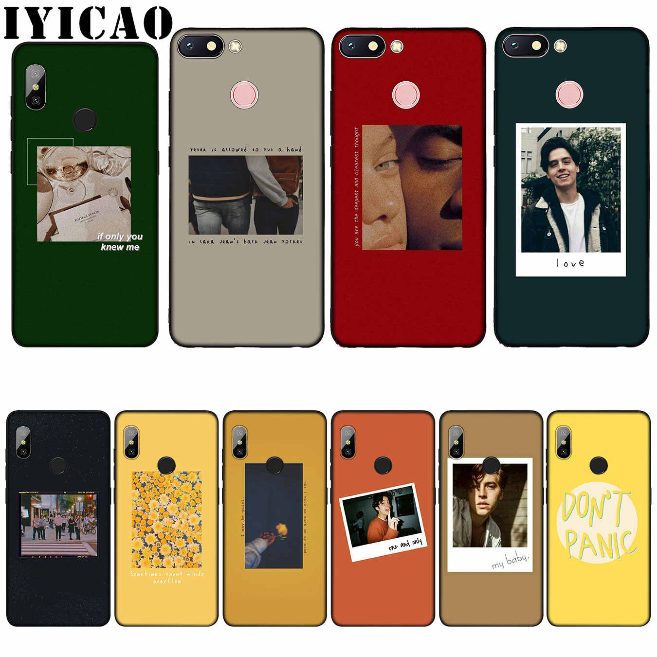IYICAO Funny pictures text Soft TPU silicone Novelty Fundas Soft Case for Xiaomi Redmi 6A 5A Note 7 4 4X 5 Plus 6 Pro Cover